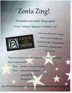 Zonta Zing Flyer