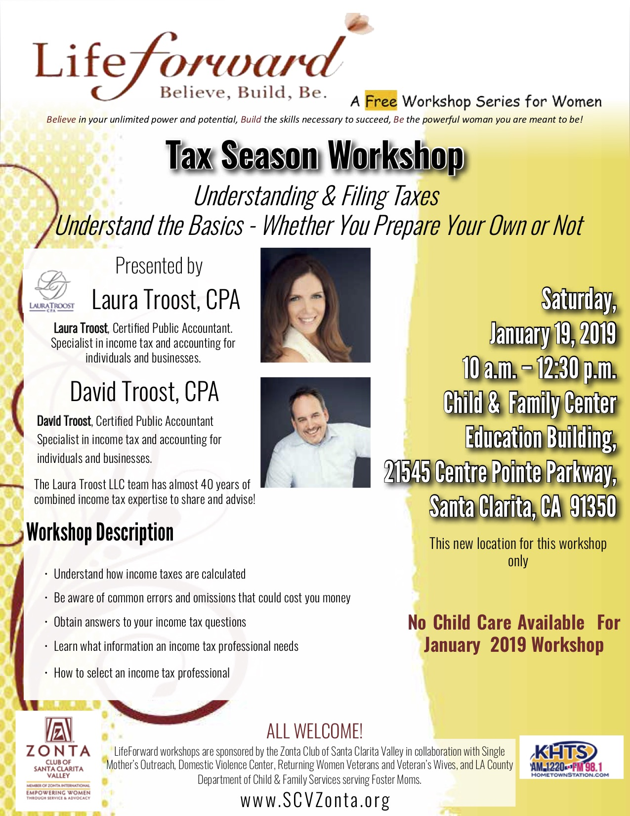 JAN 2019 Tax Workshop 1-6-19