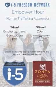 Zonta Club Empower Hour Flyer
